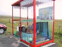 Unst bus shelter (birdfarm) Tags: bus scotland box decoration busstop busshelter shetland unst shetlandislands unstbusshelter