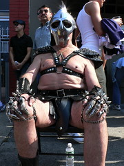 metal fetish freak at folsom street fair 2006 - by dr. motte