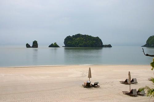 Playa privada del Hotel Tanjung Rhu Resort Langkawi