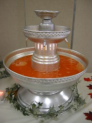recipe for red wedding punch to be used in a fountain