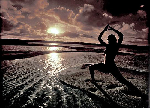 Yoga Sunset with filter by Fiona Ayerst.