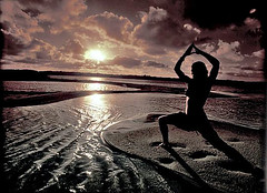 Yoga Sunset with filter (Fiona Ayerst) Tags: yoga