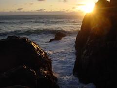 Sunset at Pfeiffer Big Sur Beach (DHLake) Tags: ocean california park ca sunset beach nature reflections coast monterey big surf waves pacific bigsur pacificocean sur centralcoast monolith pfeiffer pacificcoast pfeifferbeach sycamorecanyon pfeifferrock pfeifferbigsurbeachpark