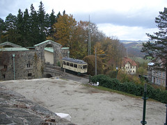 Pöstlingbergbahn departs