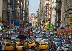 (fdfotos) Tags: auto newyork chinatown traffic stadt stau verkehr