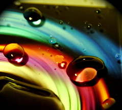 Rainbow drops (jodi_tripp) Tags: reflection water drops slick rainbow bravo colorful allrightsreserved magicdonkey explorefrontpage joditripp cy2 challengeyouwinner top10fornov6interestingness colourartaward artlegacy top12define wwwjoditrippcom photographybyjodtripp joditrippcom