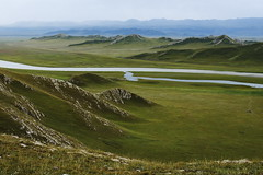 Xinjiang309 (Kelly Cheng) Tags: china mountain river pasture getty xinjiang grassland bayanbulak bayingholinmongol pickbykc