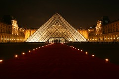A private reception entrance (ole) Tags: light red party paris france museum night carpet europe shot nightshot pyramid louvre background pair famous reception 75001 pyramide acehigh explored abigfave 2pair martianlandingzone noticings