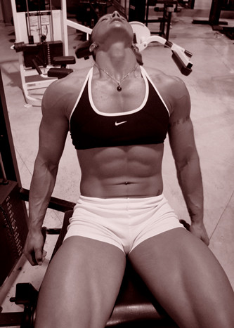 Janeen Lankowski - Abs and Thighs In The Gym