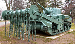 WW II Sherman Crab - anti-mine flail tank (gnawledge wurker) Tags: canada nikon tank borden 5700 sherman afv flail