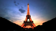 Au Revoir Paris (Toni Blay) Tags: voyage longexposure trip viaje sunset red sky paris france topf25 night topf50 holidays eiffeltower interestingness1 eiffel illuminated burning toureiffel torreeiffel topf150 topf100 vacaciones topf250 topf200 champsdumars famousbuilding 100favs abigfave