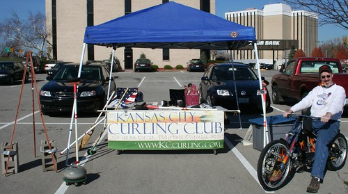 Bikes For Tykes Kansas City in front of the KC Curling