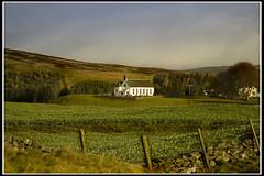 Little white Church (Alan Weir) Tags: field grass clouds landscape scotland countryside highlands scottish hills fields trossachs feild feilds archedwindow thesmaglen