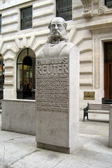 UK - London - The City: Paul Julius Reuter statue