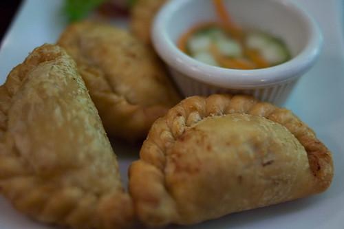 Curry puffs un bocado rápido en Singapur