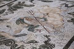 Neptune (Bruno Girin) Tags: espaa house andaluca spain ruins roman mosaic neptune santiponce itlica