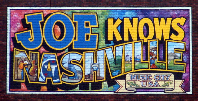 Joe's Crab Shack downtown Nashville post card sign