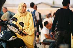 woman on motorbike in Morocco