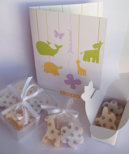 Summer's shower soap favors