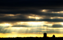 Heaven (scottwills) Tags: light tower silhouette skyline clouds scott freedom heaven darkness dusk cumulus be there wills let scottwills wwwscottwillscouk