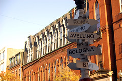 All roads lead to Rome? (Katri Niemi) Tags: signs boston massachusetts northend hanoverst kjmniemi italiandistrict