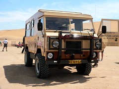 Land Rover Forward Control (hannes.steyn) Tags: africa cars lumix fz20 desert dunes panasonic amphitheater landrover namibia 1000 100club swakopmund namibdesert forwardcontrol 50club livingdeserttour hannessteyn