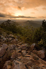 Sunset from Pinnacle (Luke Williams) Tags: sunset mountain clouds rocks littlerock arkansas pinnaclemountain pinnacle blendedexposure pulaskicounty 1213print