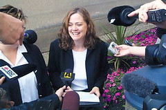Karen Busby at press conference following same-sex marriage ruling: September 16, 2004. (Queer History of Winnipeg) Tags: gay lesbian geotagged victory lawcourts queer samesexmarriage courtruling queerhistory queerwinnipeg winnipeghistory geolat4988746 geolon97146317 karenbusby