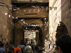 Flags (Kristineinitaly) Tags: minaret egypt flags cairo souk