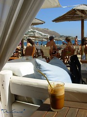 Mykonos - Ornos Beach, ice coffee (*DaniGanz*) Tags: sea beach coffee bar umbrella island interestingness europe mare explore greece grecia ombrelloni caff spiaggia cyclades mykonos mediterraneansea mikonos icecoffee isola beachbar 416 cicladi frappe ornos marmediterraneo kyklades ornosbeach daniganz flickrsexplore top20greece