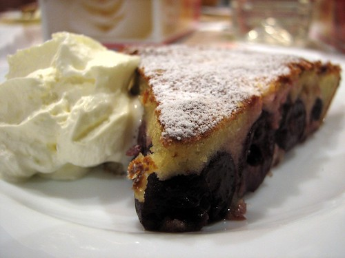 Slice of Cherry Clafoutis