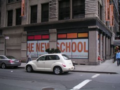 The Parsons New School + Our rental car by Graffiti By Numbers, on Flickr