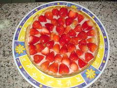 Torta de Morango pincelada com gelatina - clique para ampliar