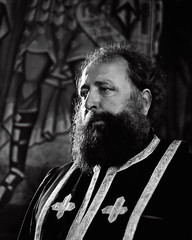 Romanian Priest (Smekermann) Tags: portrait blackandwhite white black church portraits blackwhite romania duotone priest portret preot