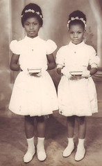 girls (papa) Tags: girls blackandwhite beauty children 60s 1st blackpeople oldpictures communion ebony firstcommunion schwarzen noirs blackgirls retrofirstcommunion afripolitain ancientsblack