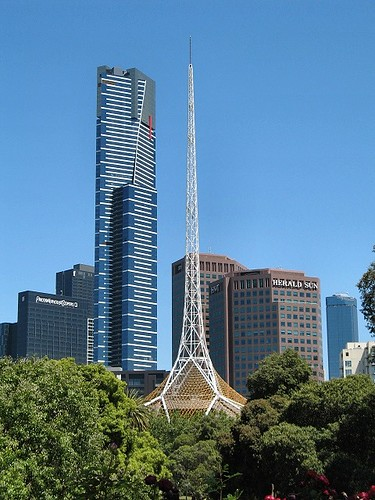 Melbourne Skyline from Queen Victoria Gardens by Dean-Melbourne.