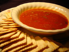 Finished Product (trekkyandy) Tags: food soup chili bowl foodies meal supper crackers saltines foodeat