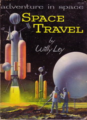 Adventure In Space Travel by Willy Ley (Clampants) Tags: mars illustration stars book venus antique space books ephemera astronauts cover ley rocket moons rockets lunar willyley johnpolgreen rocketships