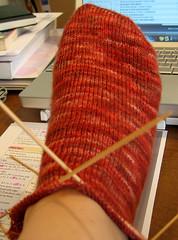 Adventures in Toe-Up (sassenach) Tags: knitting sock workinprogress wip brickhouse toeup fearlessfibers
