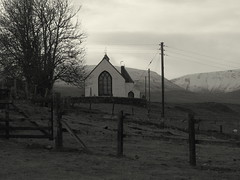 Winter already? (Equso) Tags: winter snow church scotland perthshire already hills amulree