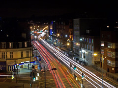Finchley Road At Night 3 (Jon Van Tango) Tags: longexposure london cars night kodak finchleyroad swisscottage nw3