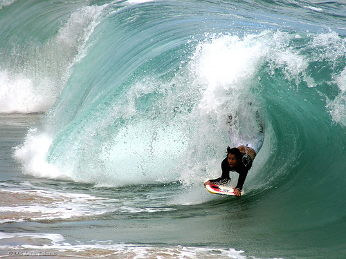 "Adams drop at ""Pounders"", Oahu- Hawaii"