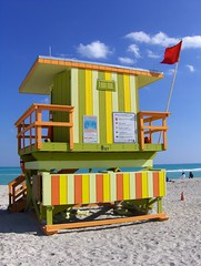 Miami Beach Lifeguard Hut (Joe Shlabotnik) Tags: beach colorful florida miami lifeguard 2006 hut miamibeach myfave faved november2006 explored myphotoseverywhere heylookatthis