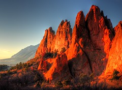 Fire Red Sunrise of Garden of the Gods
