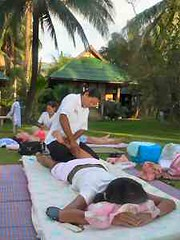 Massage on beach