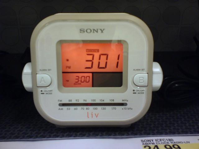 cameraphone clock radio sony ui liv ux alarmclock ue goodexperience vx8300 icfc180