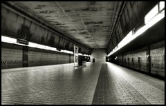 sutphin blvd archer ave bw (Darny) Tags: nyc newyorkcity newyork spooky subwaystation hdr webcity hdrfromsingleraw wherearemyzombies darny newpicturesofoldplaces