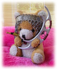 "THE RIGHT TO ARM BEARS #1- ""IT IS A GOOD DAY TEDDY!"" (zero g) Tags: bear startrek silly toy toys oz lol australia melbourne rob softies teddybear sword klingon robjan eclectic eeek whimsical chainmail softtoy batleth maille thesecretlifeoftoys beyondthevalleyofthedolls itsabsurdbutwelikeit klingons toyface naughtytoys alienartifacts laughoutloudpool hatshelmetsheadwear scifibuffsunleashed scificatchall macrotoys oddstrangeabnormal toystoystoys weirdbutwonderful toystakeover islandoflosttoys toysaholicanonymous thebiggestgroupplaygroundforpsychotics reallyunlimited austrek weirdwalkenergeticallyinrubberdungarees wirednewsstartreksubmissions stuffstuffstuff alienfacesbodiesartrelatingtoalienspool disturbingsmallfurryanimalspool witchesvampiresandaliensofallsortssorciresetsorciepool teddybearsteddys chainmailartisan"