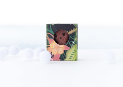 owl with flower (free_dragonfly) Tags: owl toys cute miniature sewing matchbox art brown handmade