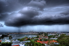 Dramatic Sky as Storm rolls over Brisbane (Garry - www.visionandimagination.com) Tags: travel storm rain clouds landscape ilovenature lights oz australia brisbane australien citycat aus brisbaneriver australis stormclouds australie novideo  visionandimagination wwwvisionandimaginationcom